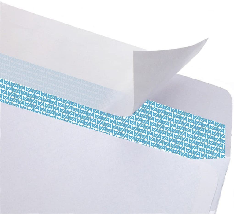 #6 3/4 Security Tinted Self-Seal Envelopes - No Window, Size 3-5/8 X 6-1/2 Inches - White - 24 LB - 50 Count (34650) - Aimoh