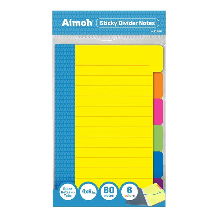 Sticky Divider Notes - Neon Colored - Aimoh