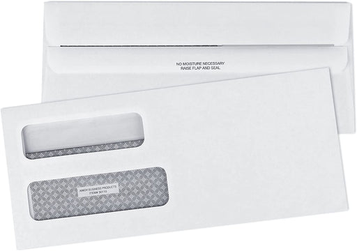 #10 Envelopes - Double Window - Flip & Seal - Security Tinted - Aimoh