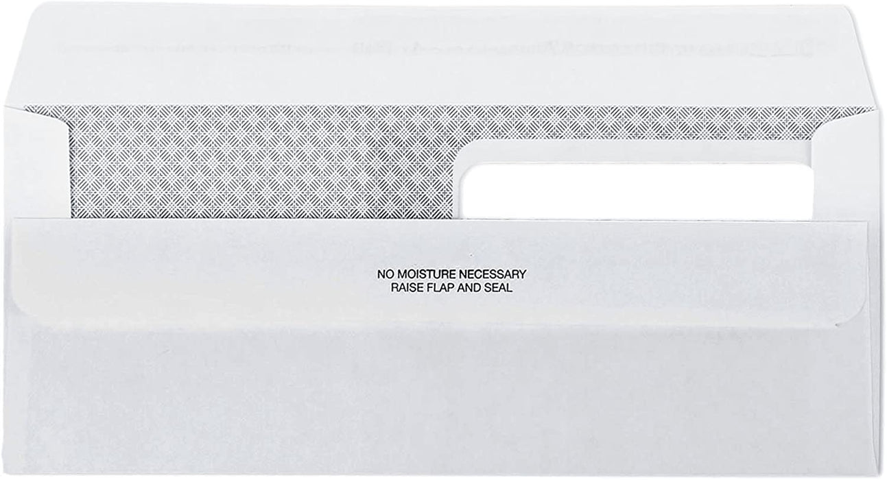 #10 Envelopes - Double Window - Flip & Seal - Security Tinted