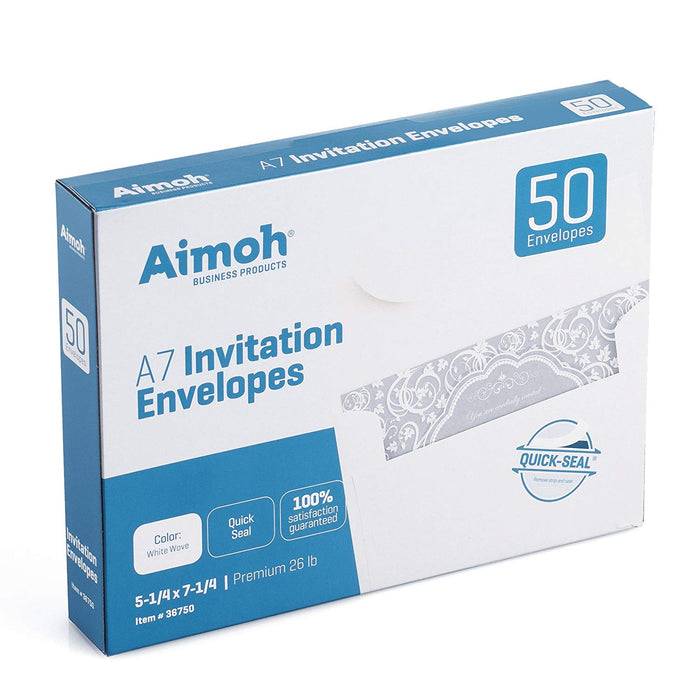#A7 Envelopes - QUICK-SEAL - for 5 X 7 Invitation - Aimoh