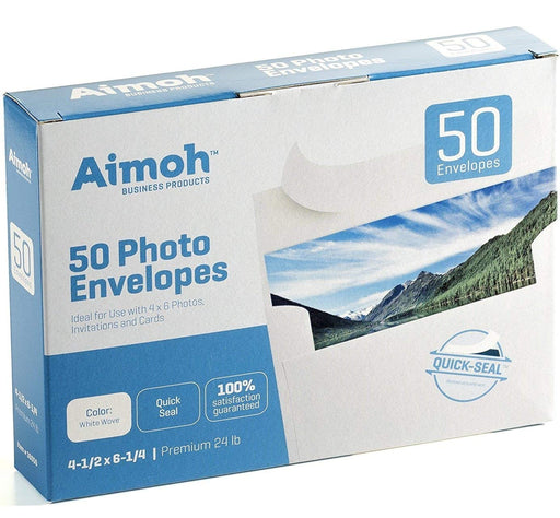 #A4 Envelopes - QUICK-SEAL - for 4 x 6 Photos - Invitations, - Aimoh