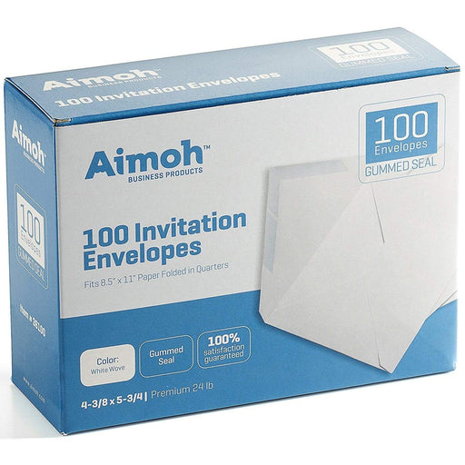 #A2 Envelopes - GUMMED - for Invitations - Greetings - RSVP - Photo - Wedding Announcement Cards - Aimoh