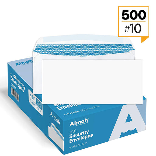 #10 Envelopes - No Window - GUMMED - Security Tinted - Aimoh