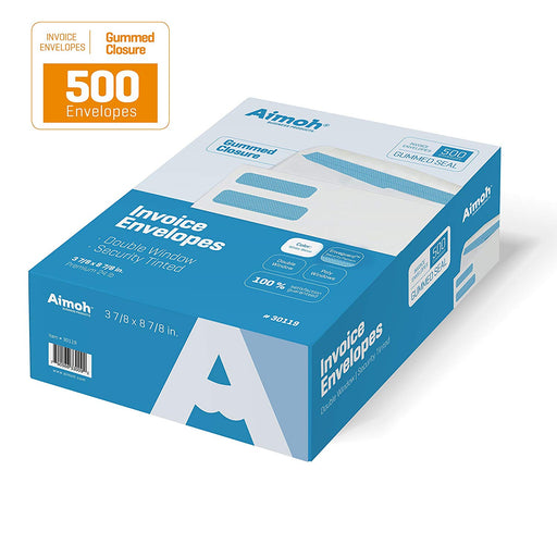 Invoice Envelopes - Double Window - GUMMED - Aimoh