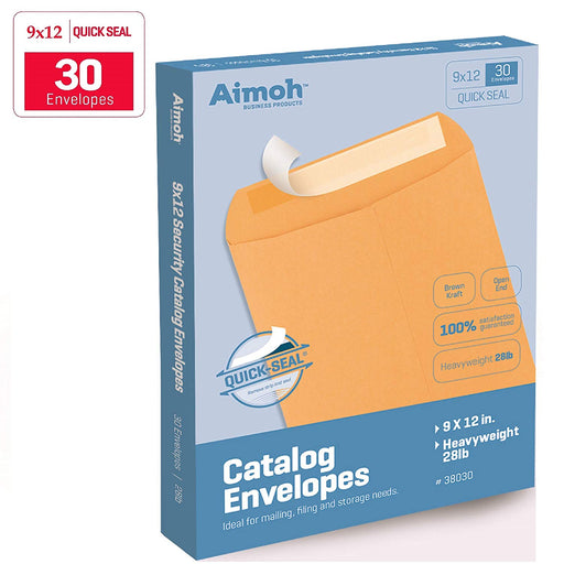 9X12 Envelopes - Self-Seal - Kraft - Aimoh