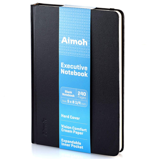 Hardcover Notebook - Blank Pages - Black