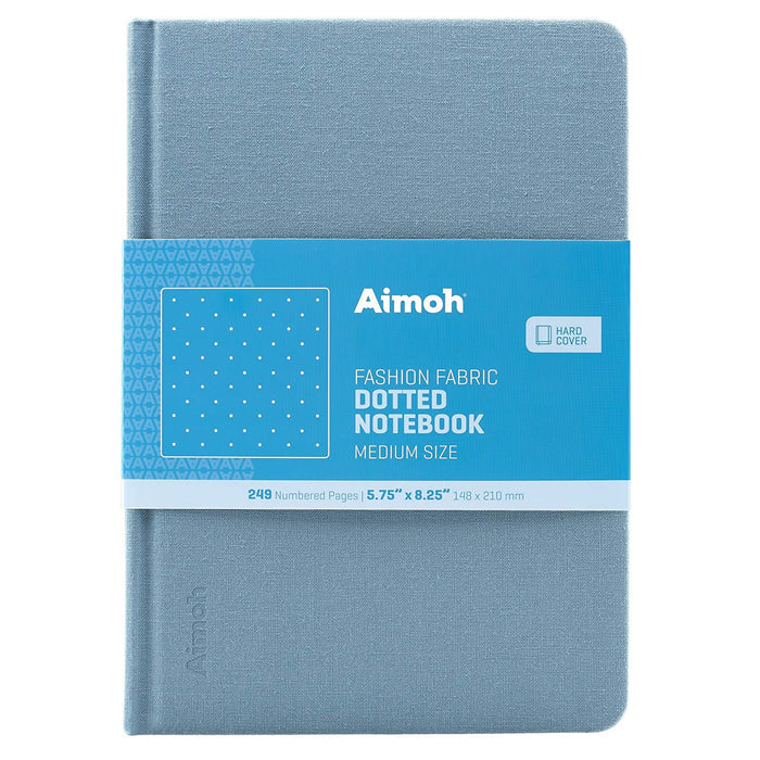 Hardcover Notebook - Dotted Pages - Denim Blue