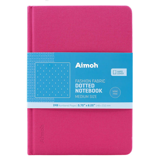 Hardcover Notebook - Dotted Pages - Mink Pink