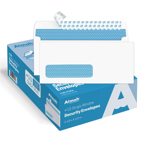 #10 Envelopes - Single Left Window - QUICK-SEAL - Security Tinted