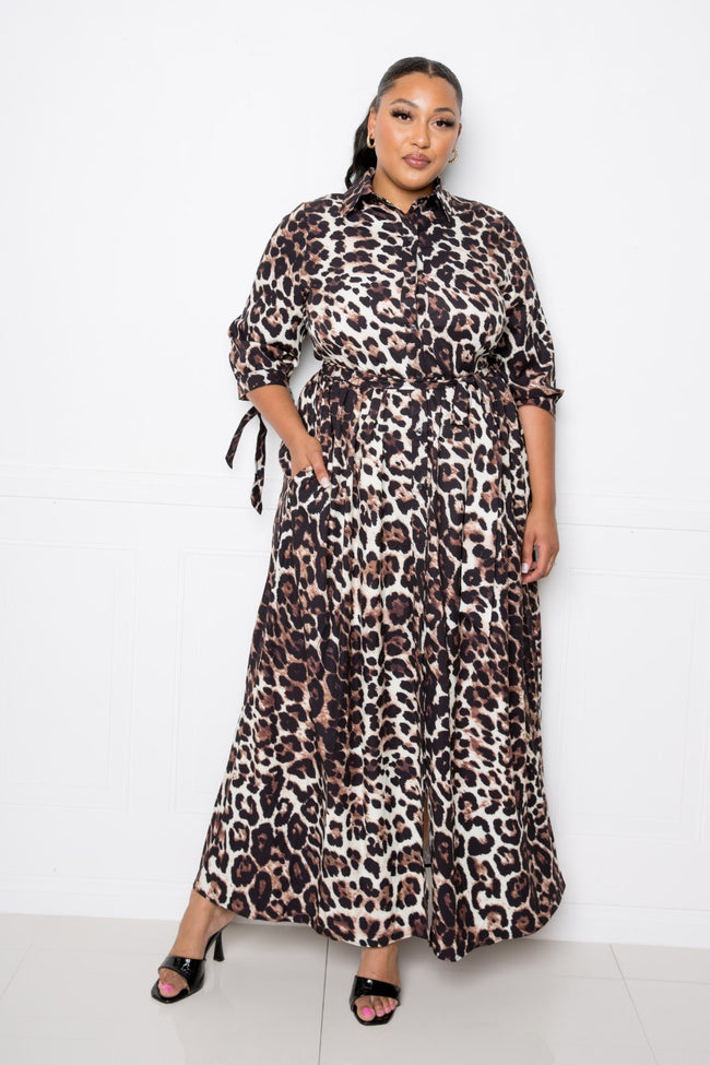 Leopard Printed Dress