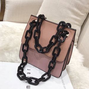 Black Link Mini Flap Bag