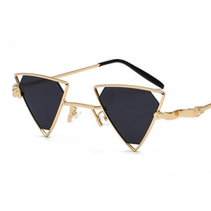 Triangular Shaped Sunglasses Retro