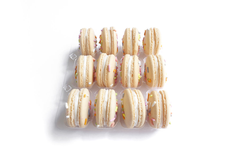 Confetti Celebration Party Box - 12 Funfetti Macarons