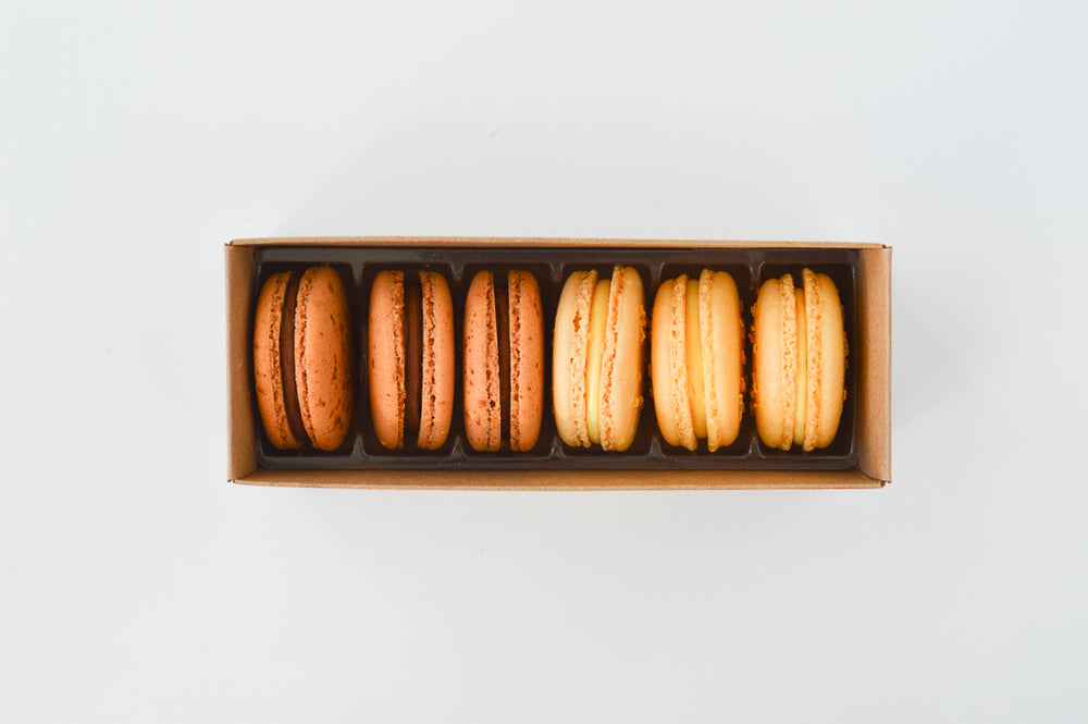 3 Chocolate & 3 Lemon - 6 Macarons - Organic