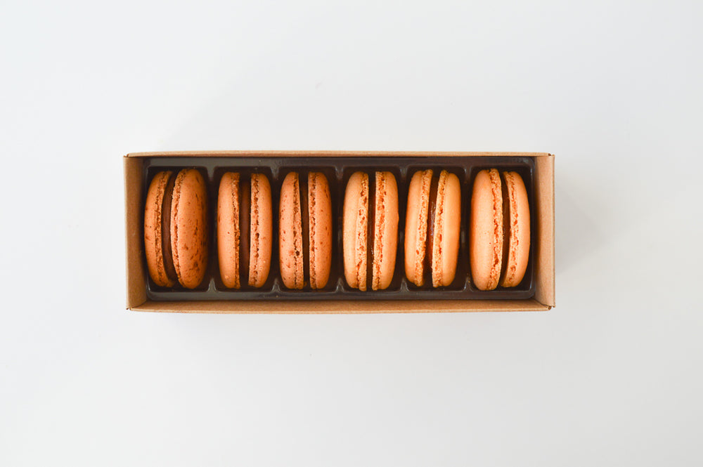 3 Chocolate & 3 Salted Caramel - 6 Macarons