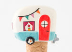 Be Happy Camper Bottle Stopper