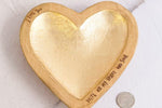 Gold Foil Heart Dishes