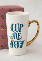Cup Of Joy Gold Handled Mug