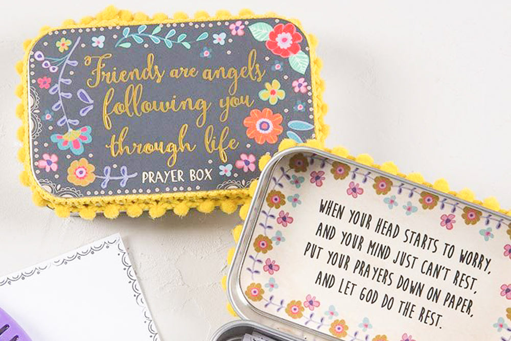 Friends are Angels Prayer Box