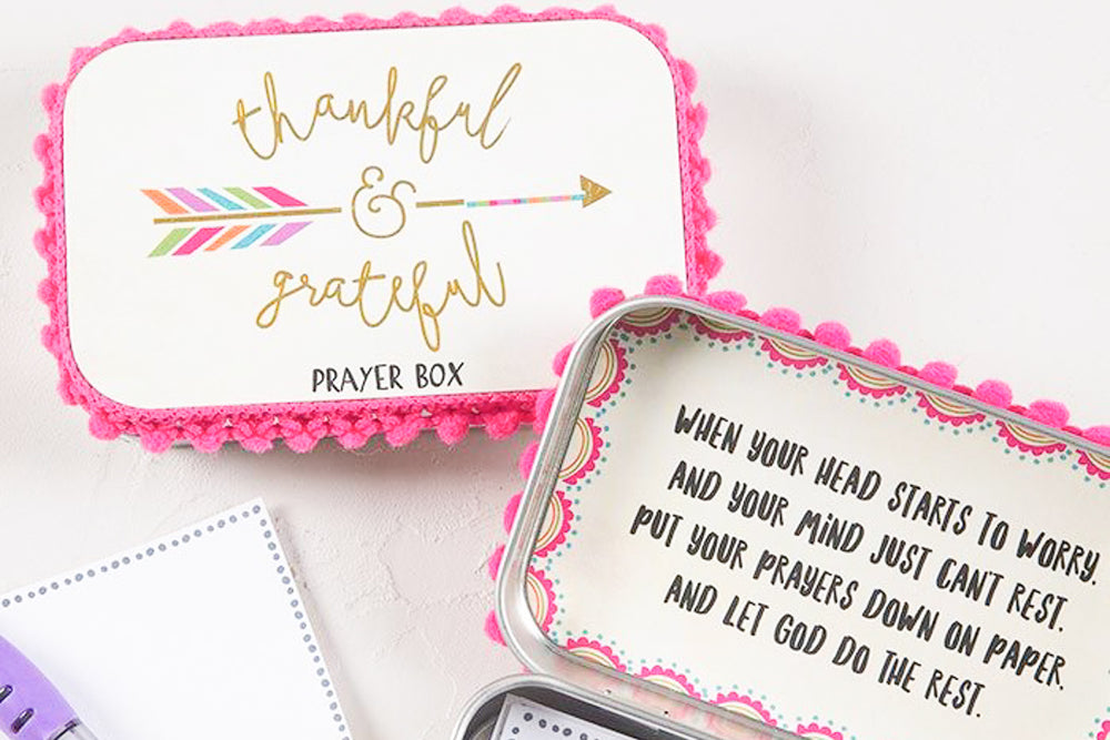 Thankful & Grateful Prayer Box
