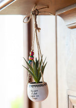 Do More What Makes You Happy Hanging Succulent