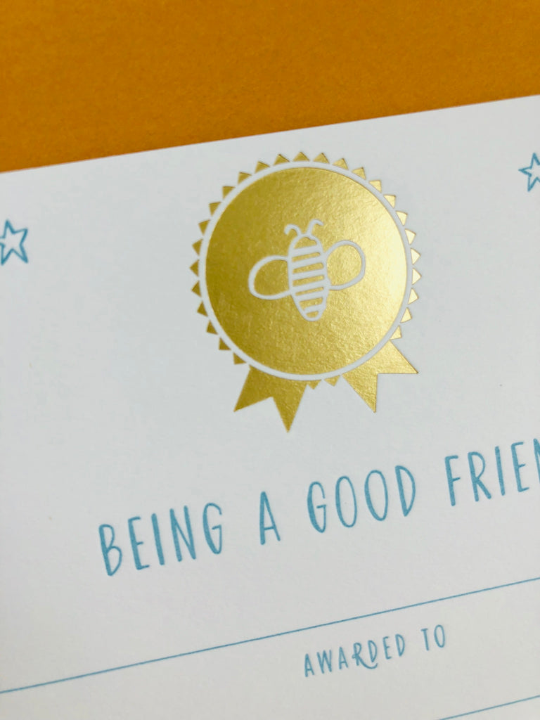 Good Bee-havior Reward Certificates - single certificates