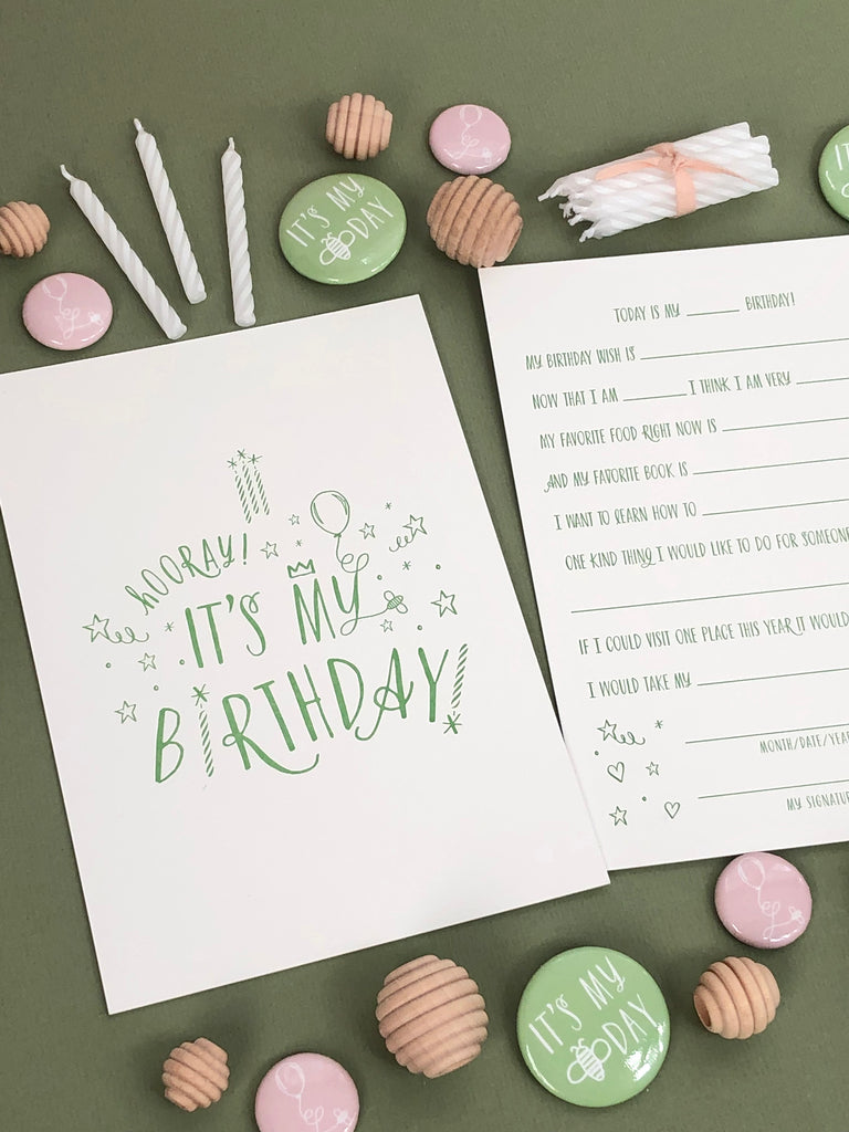 "Birthday ""Card"" Keepsake"