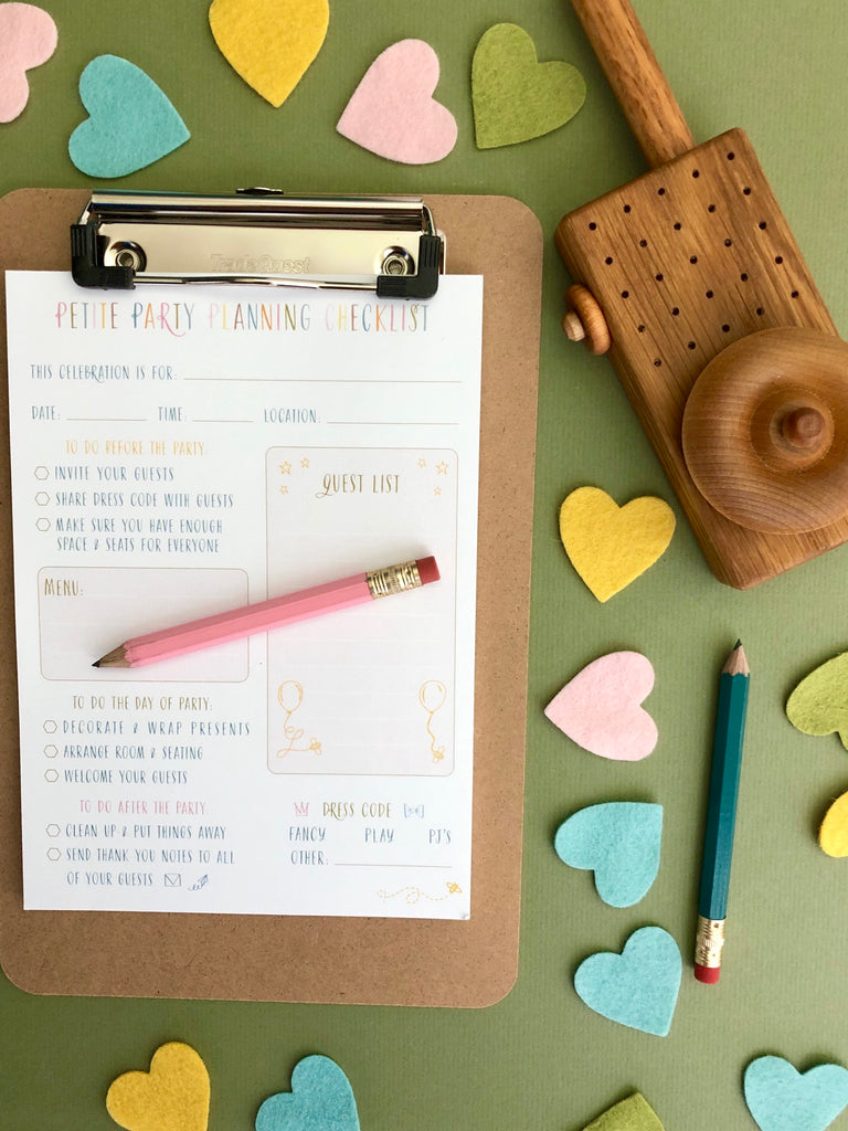 Petite Party Planner Checklist