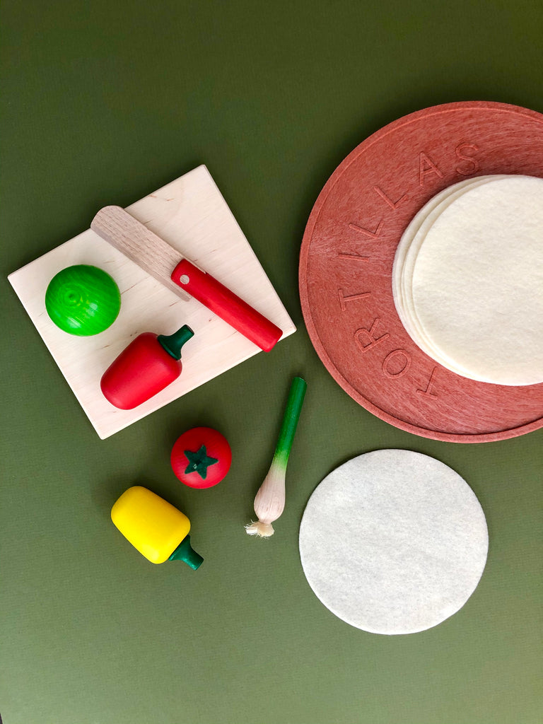 Vegetable Fajita Play Food Set