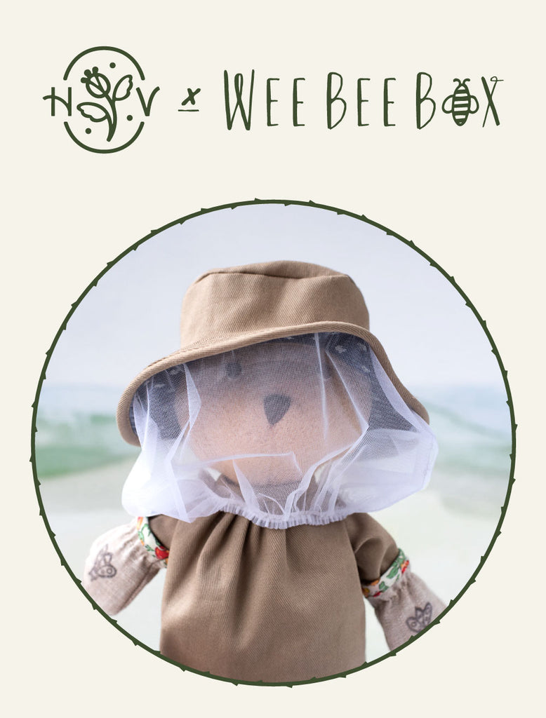 Wee Bee Box x Hazel Village Beekeeping Nicholas Bear Cub Bundle