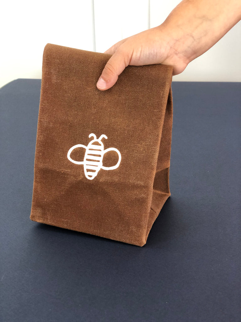 Wee Bee Waxed Canvas Snack Bag