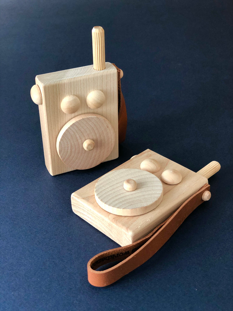 Do You Copy? Wooden Walkie Talkie Set