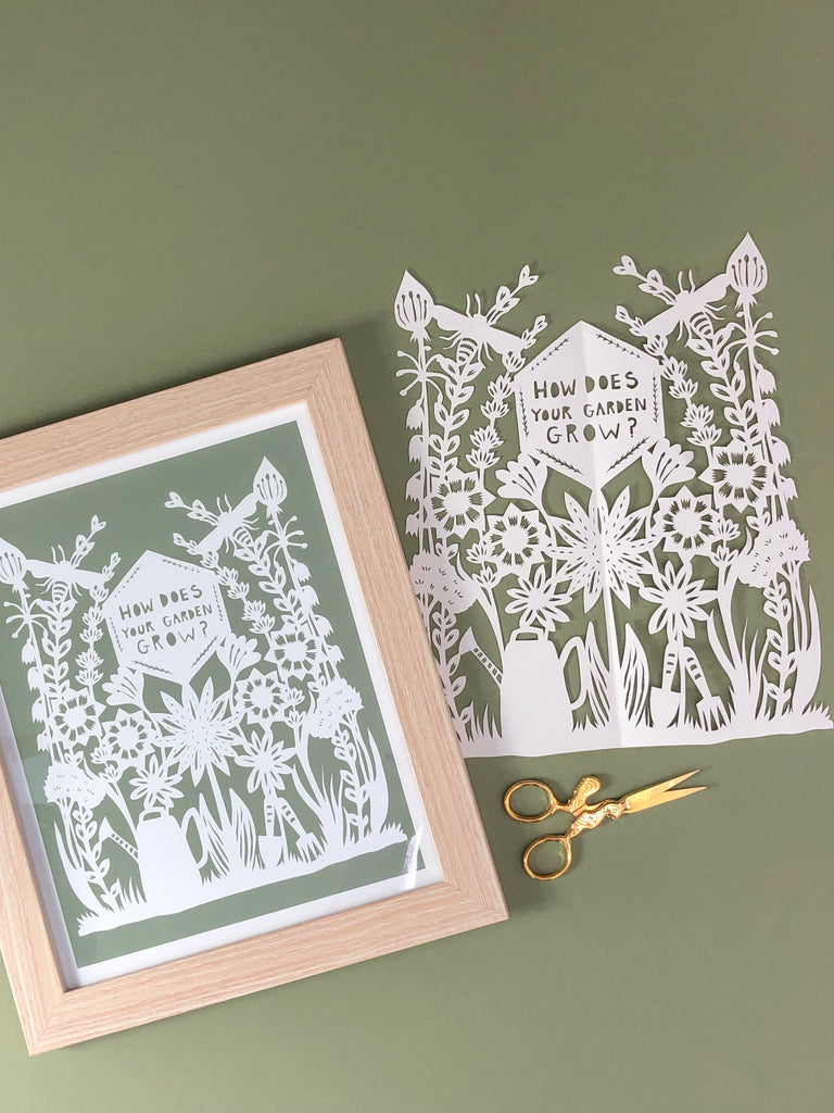 How Does Your Garden Grow? Papercut Art Print
