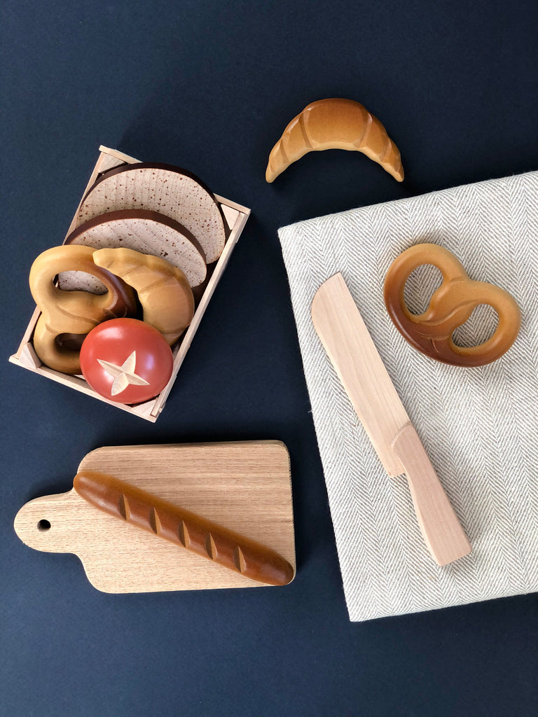 Wood Pantry Cutting Board & Knife Play Set