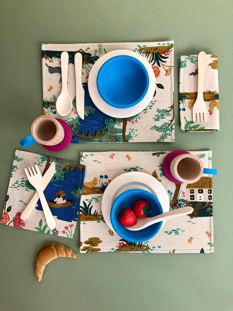 Pretend Play Placemat & Napkin Set