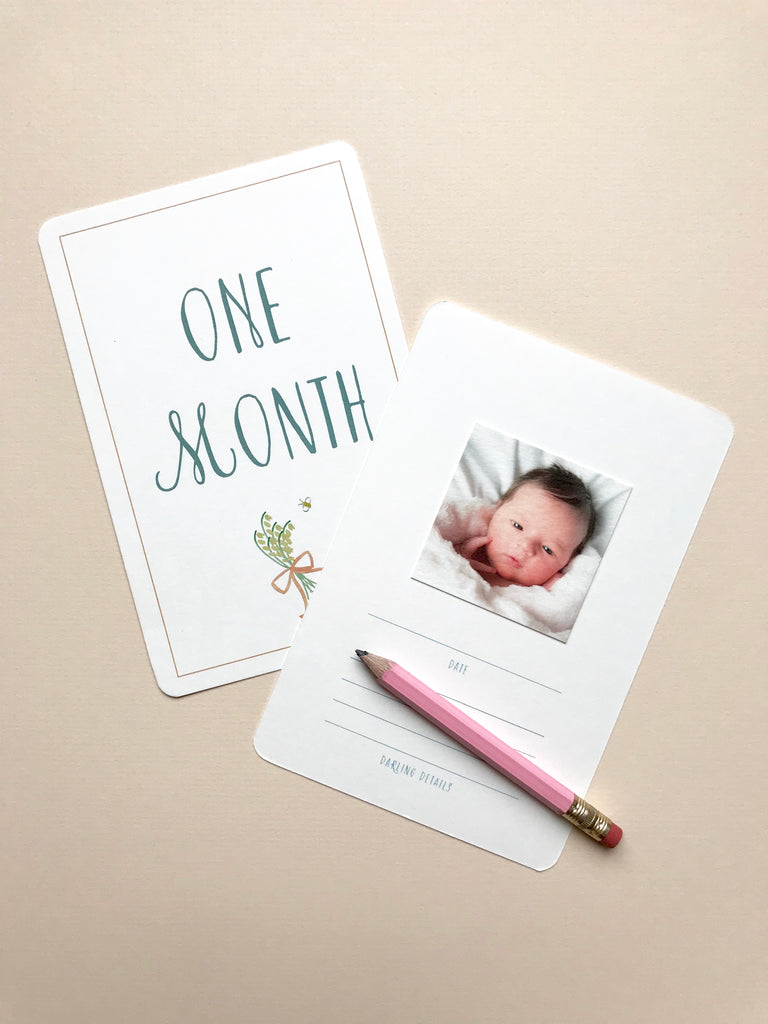 Baby photo milestone cards