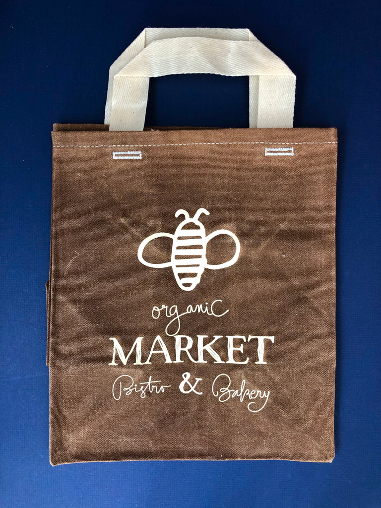 Wee Bee Waxed Canvas Market Tote