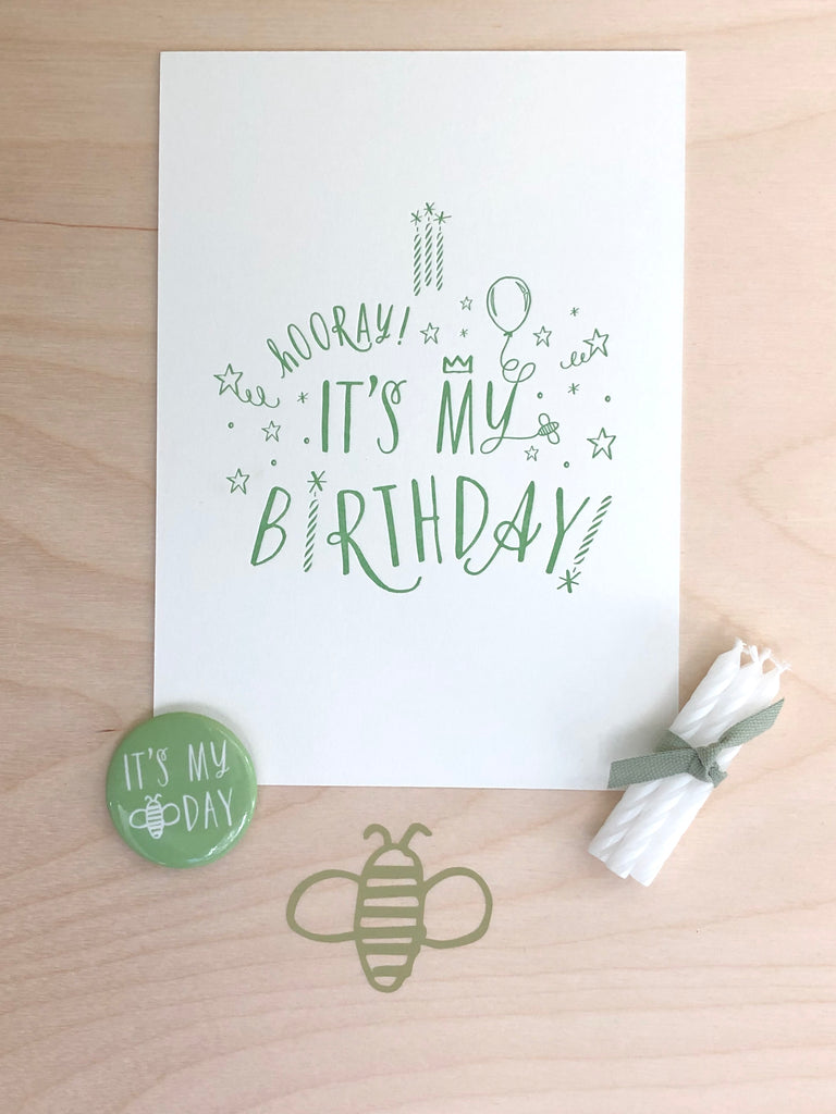 "Birthday ""Card"" Keepsake Set"