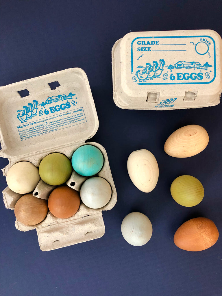Heritage Breed Wood Egg Set