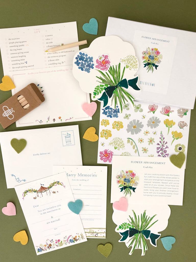 Bee Marry Wedding Paper Goods for Petite Party Guests