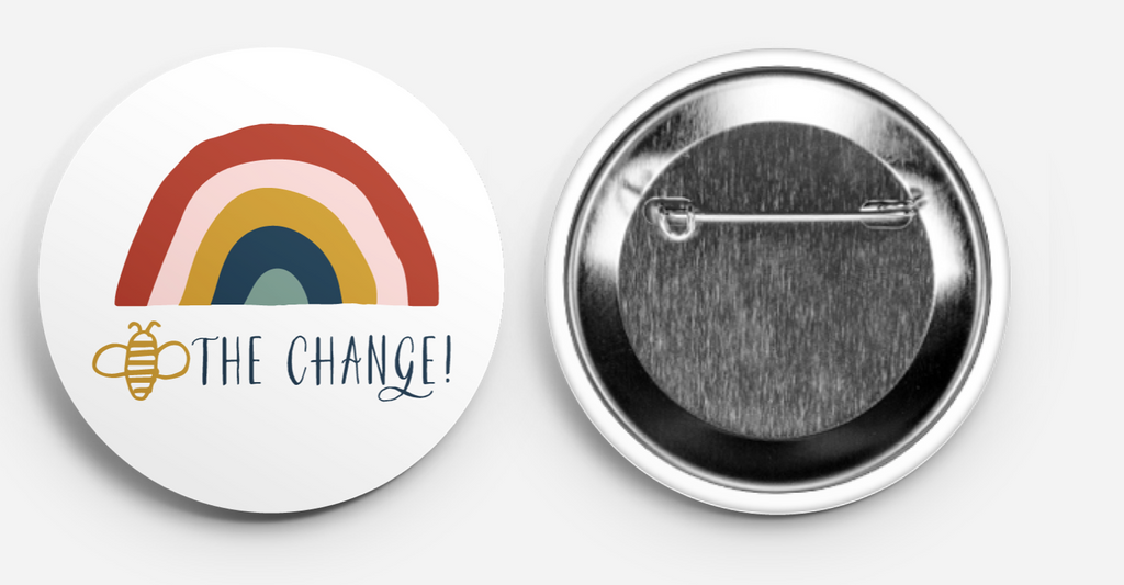 Bee The Change Button Pack