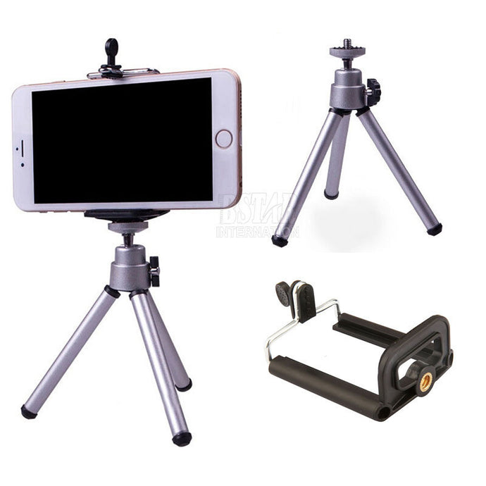 Tripod + Clip Stand Bracket Holder Mount Adapter For Gopro Camera Digital Camera Self-Timer Smartphones For iphone Samsung - Global Best Retail
