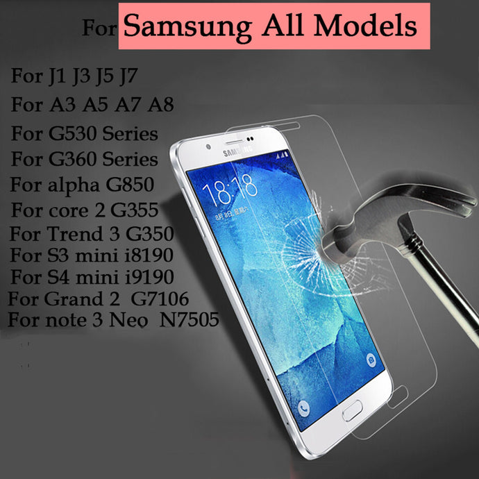 For Samsung Galaxy J3 J5 J7 All Series Phone Tempered glass Guard film 9H 0.27mm Ultra Thin Real Premium Screen Protector Film - Global Best Retail