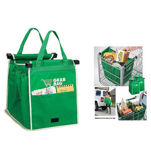 UK Shopping Bags Foldable Tote Handbag Reusable Trolley Clip To Cart Grocery Shopping Bags - Global Best Retail
