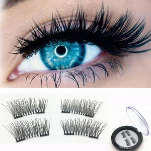 2017 Hot False Eyelashes Handmade 3D Magnetic False Eyelashes Natural Eyes Lashes Extension 1 Pair False Eyelashes Makeup Tools - Global Best Retail