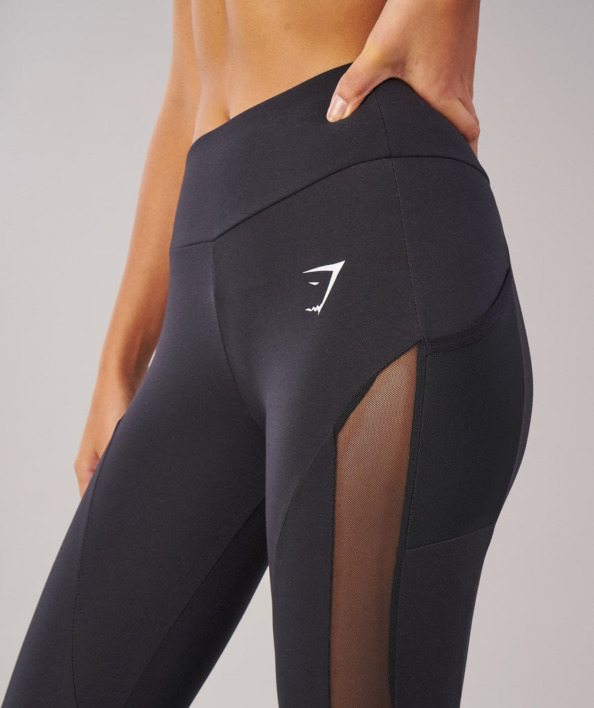 Sleek Aspire Crop Leggings - Black 6