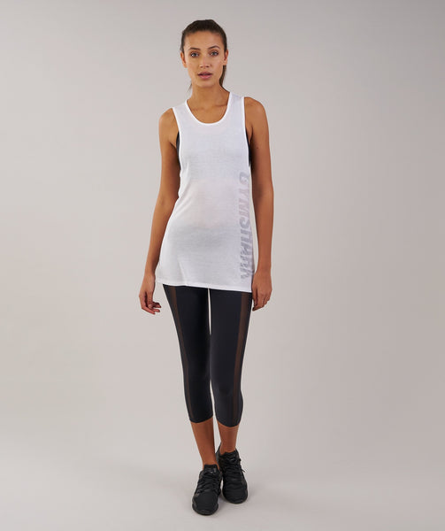 Gymshark Motion Vest - White 2