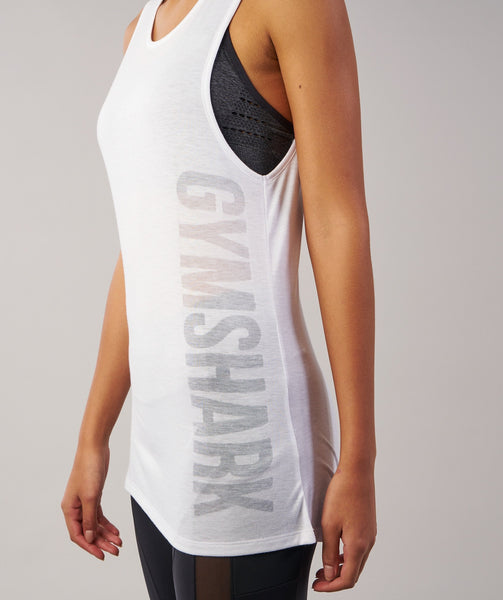 Gymshark Motion Vest - White 4