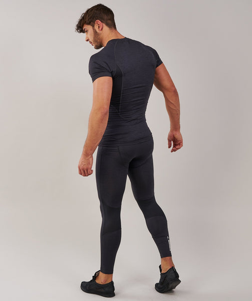 Gymshark Element Baselayer Leggings - Black Marl 4